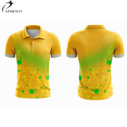 شعار مخصص للرجال قميص بولو بلقميصFit Dry 100% قميص بولو من البوليستر لفريق اللاعب الرياضي