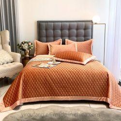 Luxuxausgangsform-Bettdecke-Deckel-übergrosses Zoll 81X99 Microfiber Steppdecke-Bettwäsche-Set