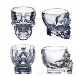 Kristallkopf-Alkohol-Wodka-Whisky-Schuss-Glas-Cup des schädel-75ml/150ml/300ml
