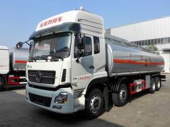 Dongfeng 30cbm camion-citerne de livraison d'huile 8*4 Essence du diesel pétrolier ravitailleur camion du réservoir de carburant