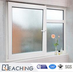 Customized Conch Perfil vidro fosco UPVC/PVC Inclinação plástico&Gire a janela para banheiro