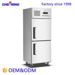 Abkühlung-Geräten-Edelstahl-Kühlraum-Schrank-aufrechter Kühler u. Gefriermaschine