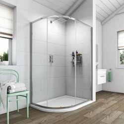 La Puerta de Bisagra sin cerco Sanitarios Receptáculo de ducha de vidrio templado de cuarto de baño Cuarto de baño privado