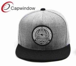 Heather Grey Hat Snapback Personalizar con logotipo de PVC en la tapa (65050099)