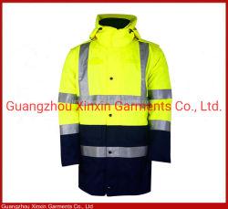 Высокая видимость оранжевого цвета зимней покрыть куртка с мягкими вставками в защитной одежде ИСЗ Workwear рабочей одежды (W432)