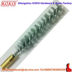 Twisted Tube en acier inoxydable Brosse de nettoyage avec M6X100 vis laiton