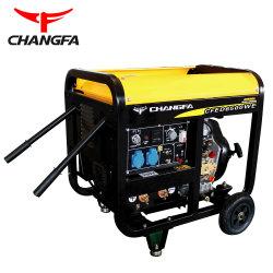 Arranque eléctrico del motor diesel refrigerado por aire generador con ruedas opcional