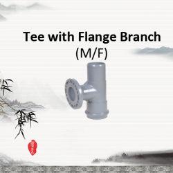 フランジの枝が付いているPVC管付属品のティー