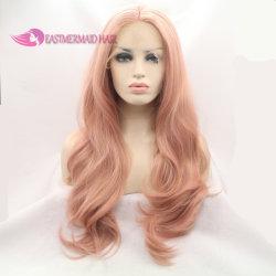 Orange rosafarbenes graues blaues Spitze-Vorderseite-Perücke-hitzebeständiges Faser-Haar-gute koreanische Silk Großhandelspreis Cosplay volle Spitze-Perücken