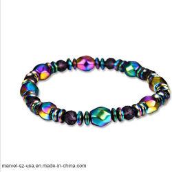 ビードの赤鉄鉱の石療法のヘルスケアの女性の宝石類の磁気ブレスレット