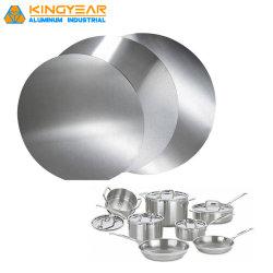 Le laminage à froid/laminage à chaud de la Chine des disques de cercle en aluminium/aluminium pour plaque de feuille Cookwares/feux d'éclairage/bouchon de vase (1050 1060 1070 1100 3003)