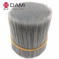 Fibras Sintéticas de Poliéster PBT Pet Imitação de Nylon Mistura Cinza cinza preto branco sólido redonda de filamentos cônico de Afiação oco de cerdas da escova de pintura