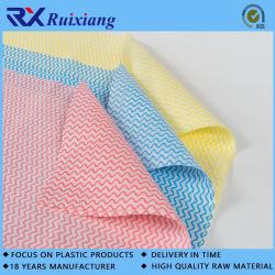 Kundenspezifisches Spunlace nicht gesponnenes Gewebe-Wegwerfküche-Lappen-Küche-Reinigungs-Tuch, das Tuch abwischt