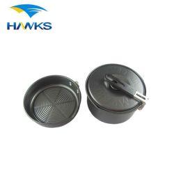 CL2C-DP01-15 Comlom che si accampa non POT di alluminio della vaschetta del bastone con la maniglia flessibile