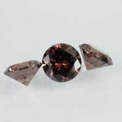 ブラウンの華麗な円形の総合的な宝石用原石の立方ジルコニアは緩む