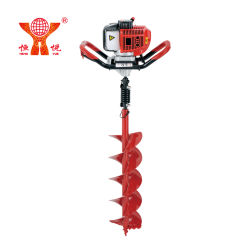 52 cc Gasoline Engine Earth Auger Garden Tool