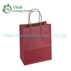 Neueste Design Werbeartikel Kraft Natürliches Material Tasche Shopping Braun Papierträgertaschen