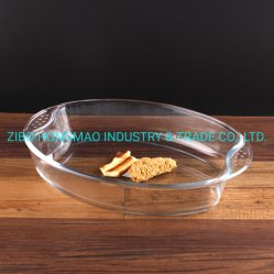 Horno de vidrio de seguridad ecológica Oval Bakeware bandeja para hornear el vidrio utensilios de cocina 2900 ml