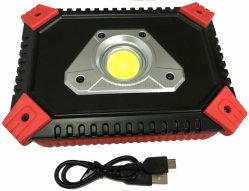 En aluminium portable phare de travail LED rechargeable
