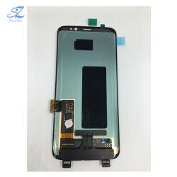 Tela de Toque do telefone celular inteligente para LCD Samsung Galaxy S8 Edge G9500 G950f Displayer exibe