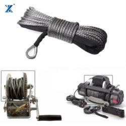Couleur Noir 4mm*15m'UHMWPE treuil corde synthétique durables 20 câble 500lbs avec manchon de protection