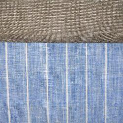 Faixa de fibras de linho Natural tecido tingidos de Fios