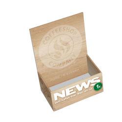 Promoción de alta calidad Soporte Folleto Corrugado reciclable.