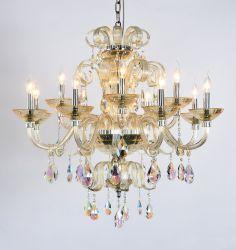 Lustre en cristal, élément de Swarovski, poignée de commande d'éclairage Lampe, d'éclairage LED