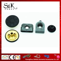 Revêtement noir bouton en métal Bouton de fixation pour le pantalon