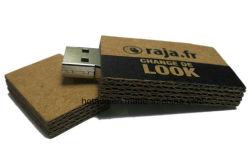 إعادة تدوير ذاكرة USB Flash الخاصة بلوحة بطاقات الألياف الخشبية القابلة للتحلل