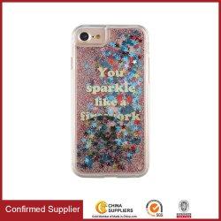 Преодоление зыбучих песков телефон случае Блестящие цветные лаки жидкость случае пользовательские мобильного телефона случае