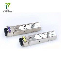 1,25g transceptor SFP SC 20km de conector SC/Wdm Módulo SFP mini-GBIC Bidi SFP 1000m de módulo de fibra óptica