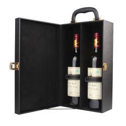 Lederimitat-Papier-Paket-Wein-Kasten