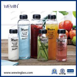 Cher la Chine Ventes en gros 6PCS Factory Direct bouteille en verre bouteille de jus d'emballage, des boissons en bouteille, bouteille d'eau, de la Verrerie de verre bouteille