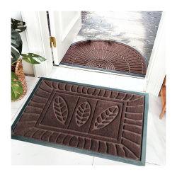 Rubberen rug eenvoudig te reinigen modern/klassiek/waterbestendig rubberen Embossed Non Slip Deurmat voor binnen en buiten