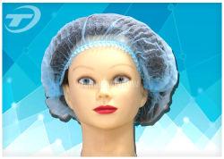 غطاء بلاستيكي يمكن التخلص منه/مشبك/بوفانت/إجتماع/غير منسوجة/PP مع دش/زورق صغير/غطاء الفندق/ممرضة/غطاء طبي/قبعة جراحية مع قماش بوليبروبيلين مطاطي