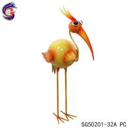 Flamingo metálicos coloridos exclusiva decoração escultura de recreio