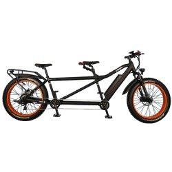 26-дюймовый электрическим тандем велосипед жир шины велосипеда мотор мощностью 750 Вт