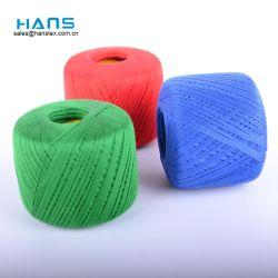 Hans Commerce de gros logo personnalisé pour le tricotage de fils de coton de couleur