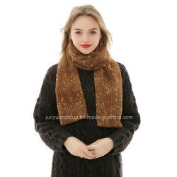 Venta caliente nuevo diseño de la mujer hilado teñido de pieles artificiales bufanda