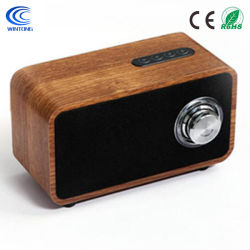 Bois portable sans fil Bluetooth v4.20 haut-parleurs avec radio