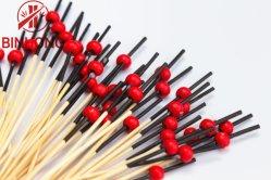 I bastoni di bambù cilindrici rossi del 1/6 della natura del barbecue di branello della decorazione