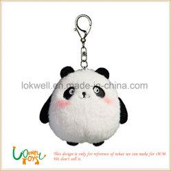 Llavero de metal de felpa suave Peluche Panda Doll Juguetes