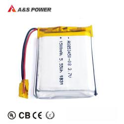 Sin efecto memoria 853450 3.7V 1500mAh Batería de litio recargable de polímero