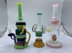 Bienenwabe-Glasrohr, 45cm Glas-Pfeife-Wasser-Glas-Rohr-Ölplattform-rauchendes Wasser-Rohr Waterpipe Glaslieferanten-China-Glasweihnachtsgeschenk