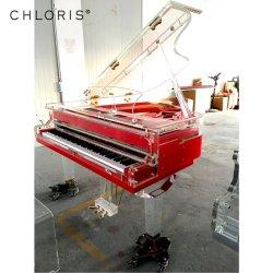 安く赤い透過アクリルの水晶グランドピアノの価格Hg168A
