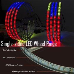 Джип 4 зоны под контролем Bluetooth Цветной светодиодный индикатор с возможностью прерывания колесо кольцо 4PCS комплект освещения автомобиль горит освещение SMD 5050 по просёлочным дорогам фонари