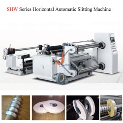 Máquina de corte de rollo de película de BOPP rebobinadora cortadora longitudinal de maquinaria de corte