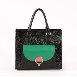 環境保護 PU の革注文ロゴの方法デザイナー女性トート ハンドバッグ