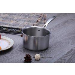 16cm utensili d'ebollizione del Cookware del POT del latte di titanio dell'acciaio inossidabile da 6 pollici